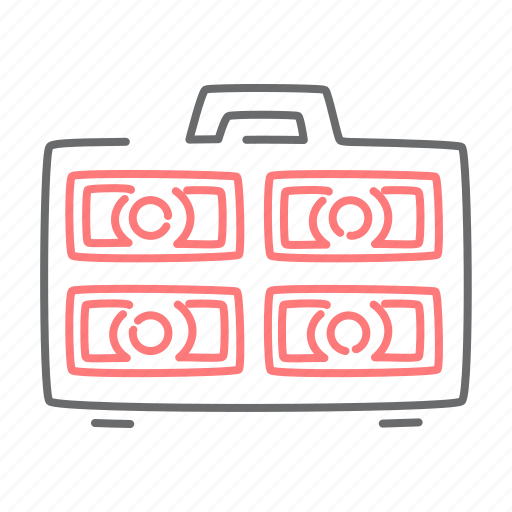 briefcase, case, cash, money, payment icon