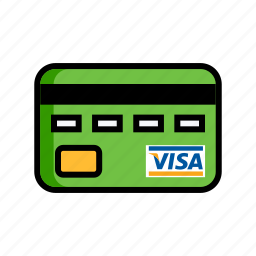atm, bank, card, credit, debit, id, visa icon