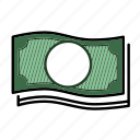 bill, cash, dollar, financial, money, paper money icon