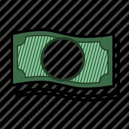 bill, cash, dollar, financial, money, paper money icon