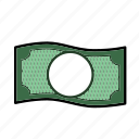 bill, cash, currency, dollar, financial, money, paper money icon