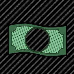 bill, cash, currency, dollar, financial, money, paper money icon