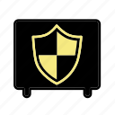 bank, financial, money, safe, safe box icon