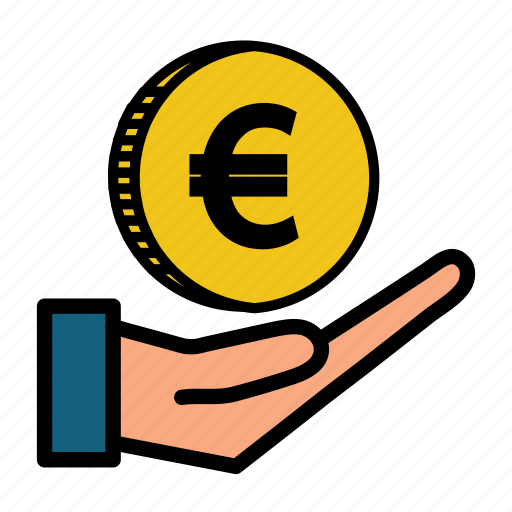 cash, coin, currency, euro, europe, gold, money icon