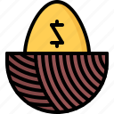 economy, egg, finance, gold, golden, money, nest