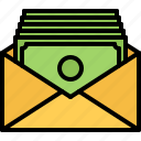 bank, banking, economy, envelope, finance, money, note icon