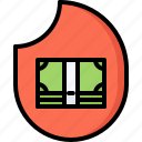 bank, burn, economy, finance, fire, money, note icon
