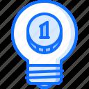 banking, bulb, coin, economy, finance, idea, money icon