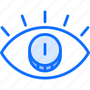 banking, coin, economy, eye, finance, money, vision icon
