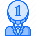 accountant, coin, economy, finance, financier, head, money icon
