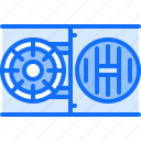 banking, economy, finance, money, safe, vault icon