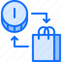 bag, coin, economy, finance, money, purchase, shopping icon