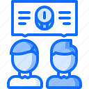 banking, coin, discussion, economy, finance, money, talk icon