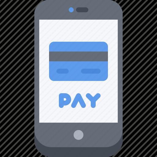 card, economy, finance, money, pay, phone, smartphone icon