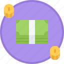bank, coin, cycle, finance, investment, money, note icon