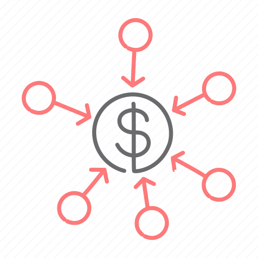 center, converge, financial, focus, stronger, unite icon