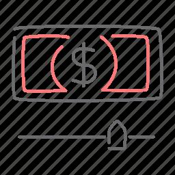 cash, dollar, finance, increase icon
