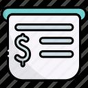 receipt, bill, invoice, payment