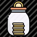 saving, jar, money, finance