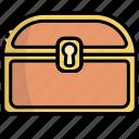 chest, treasure, money, finance