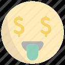 face, money, emoji, finance