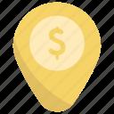 location, dollar, pin, marker
