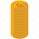 coin, finance, money, payment, stack icon