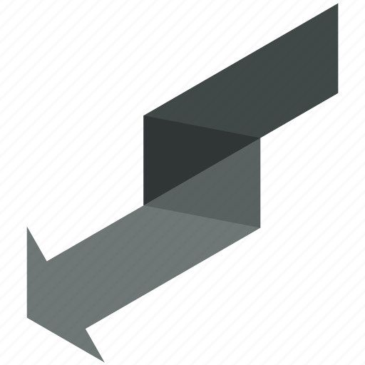arrow, down, finance, left, money icon