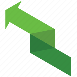 arrow, finance, left, money, rise, up icon
