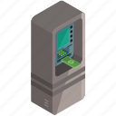 cash, finance, machine, money, payment icon