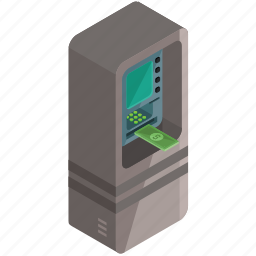 cash, finance, machine, money, payment icon