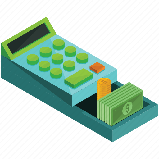 cash, finance, money, payment, register, shopping icon
