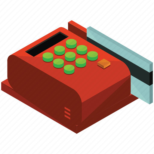 card, credit, finance, machine, money, payment icon