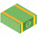 bill, dollar, finance, money, payment, stack icon