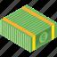 bill, dollar, finance, money, payment, stack icon
