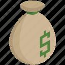 bag, dollar, finance, money, payment, value