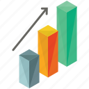 arrow, bar, chart, rise, statistics, up icon