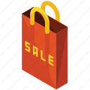 bag, finance, money, paper, sale, shopping icon