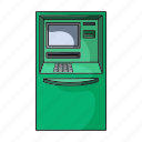 atm, bill, cash, finance, machine, money, payment icon