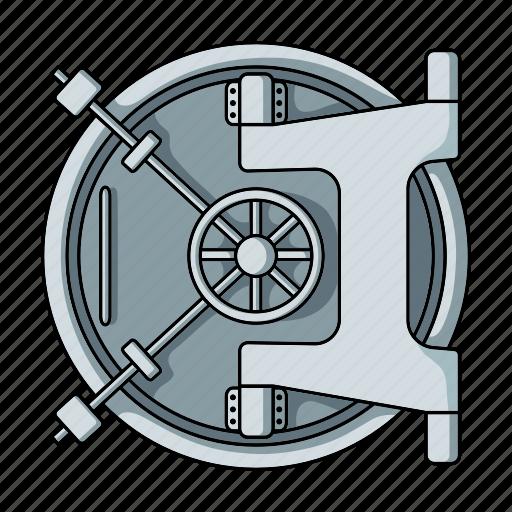 Bank Door Lock Money Safe Security Storage Icon