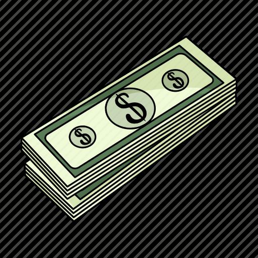 bank, bill, cash, dollar, finance, money, pack icon