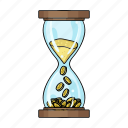 finance, business, clock, money, time, hourglass