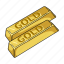 currency, gold, ingot, jewel, metal, money, stock icon