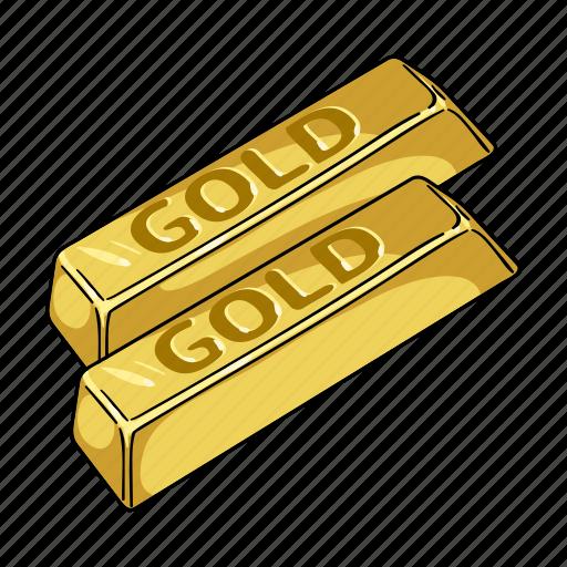currency, gold, ingot, jewel, metal, money, stock icon
