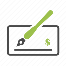 bill, business, dollar, finance, money, paycheck, pen icon