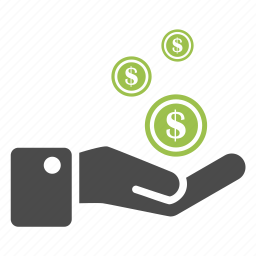 banking, business, cash, coin, dollar, finance, hand, money icon