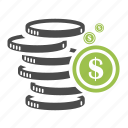 banking, cash, coin, dollar, ecommerce, finance, money icon