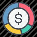 analytics, dollar, finance, graph, money, statistics, stats icon