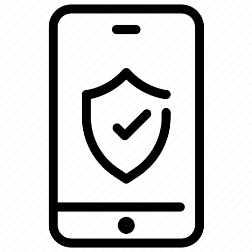 data, mobile, protection, security icon