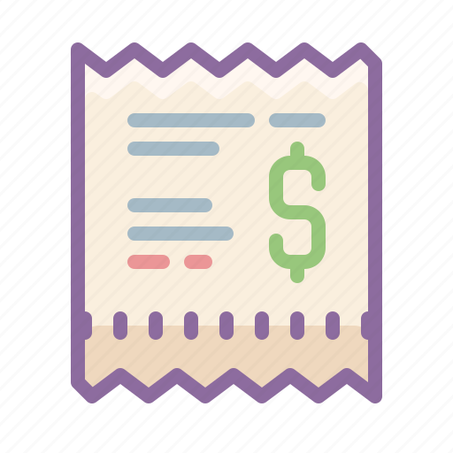 bill, currency, dollar, finance, money, paper, payment icon